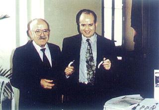 Dr. João Lage com o filho Lafayette